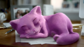Whiskas Purple Cat